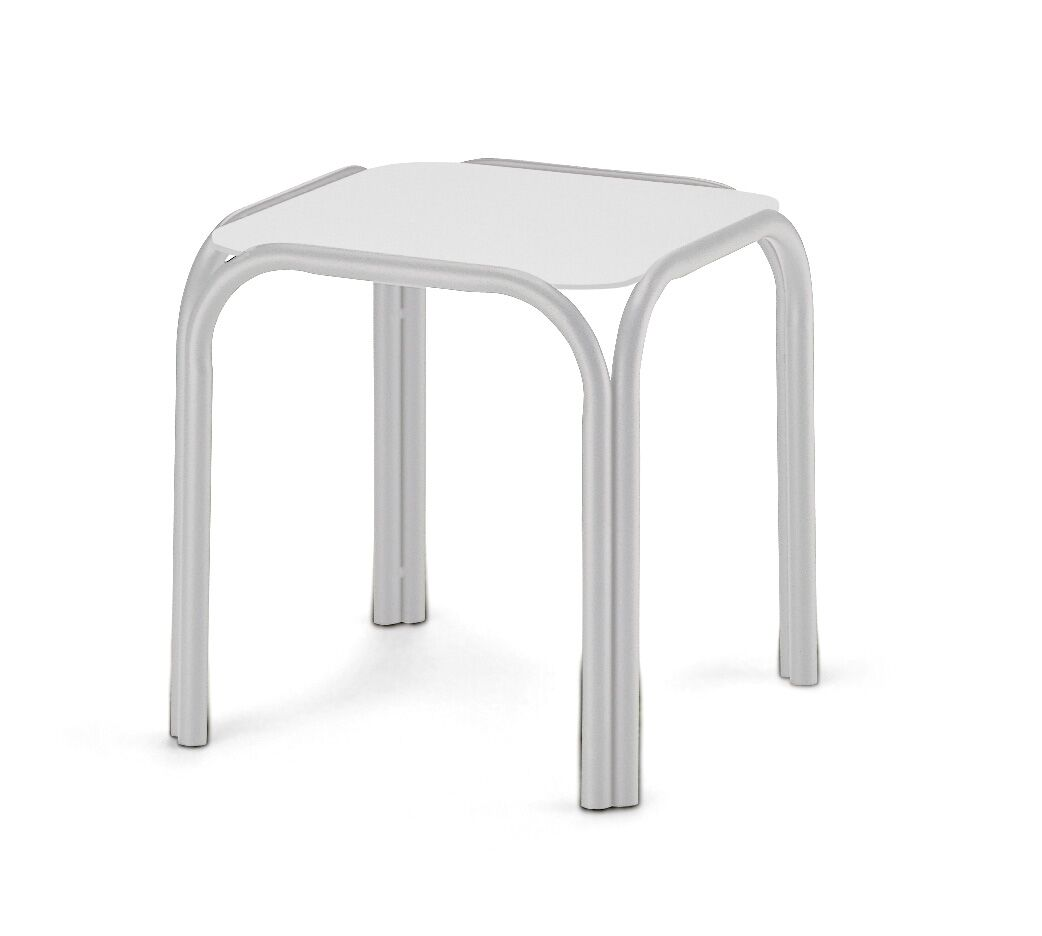 Obscure Stainless Steel Side Table Finish: Textured Silver