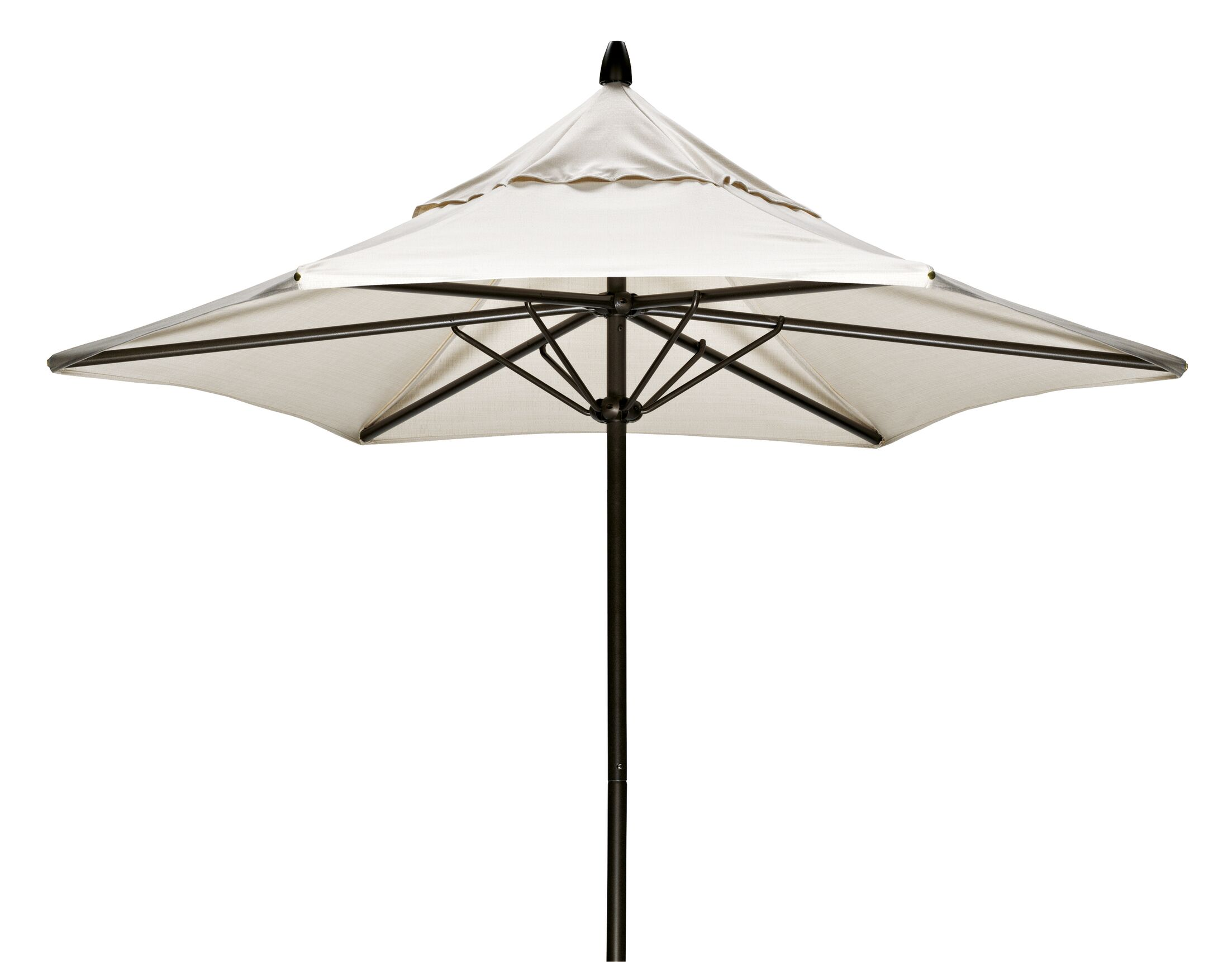 Commercial 7.5' Market Umbrella Frame Finish: Textured Aged Bronze, Fabric: Strickland