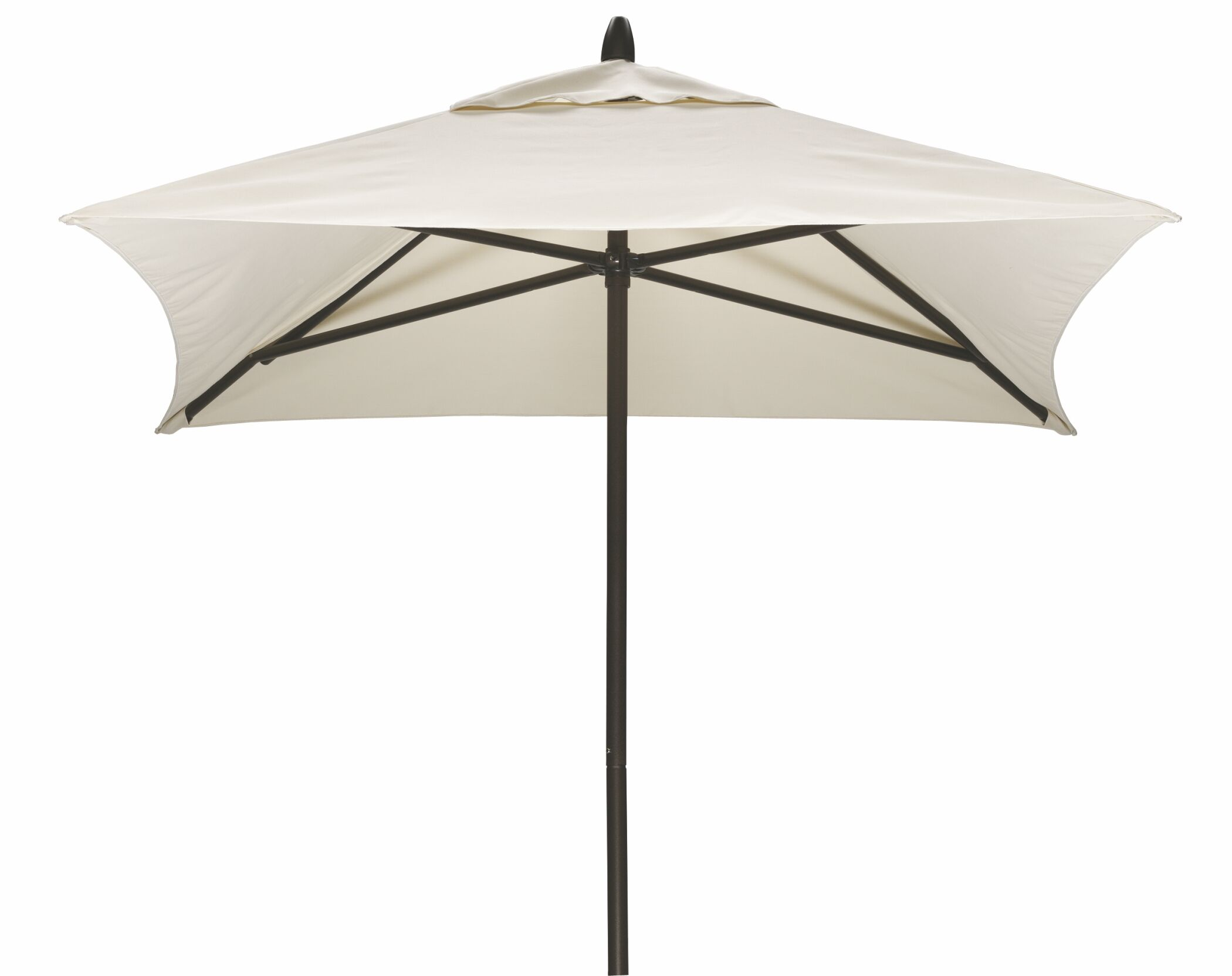 Commercial 6' Square Market Umbrella Frame Finish: Textured Beachwood, Fabric: Harvest