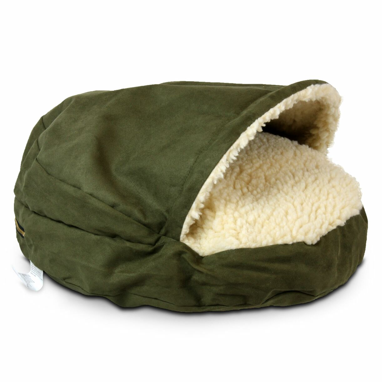 Christal Luxury Orthopedic Hooded Dog Bed Color: Olive, Size: Small - 25