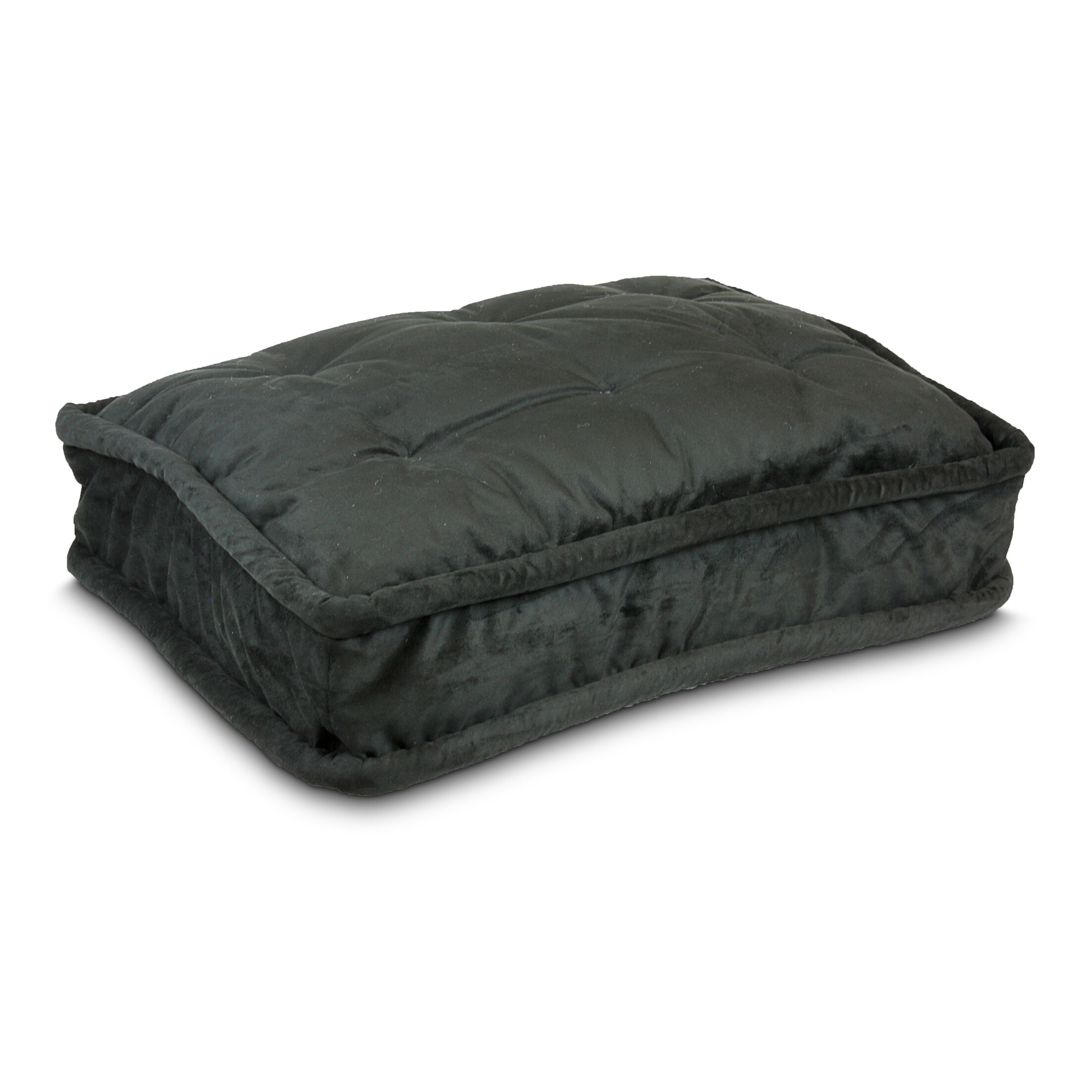 Luxury Pillow Top Pet Bed Color: Black, Size: Extra Large - 42