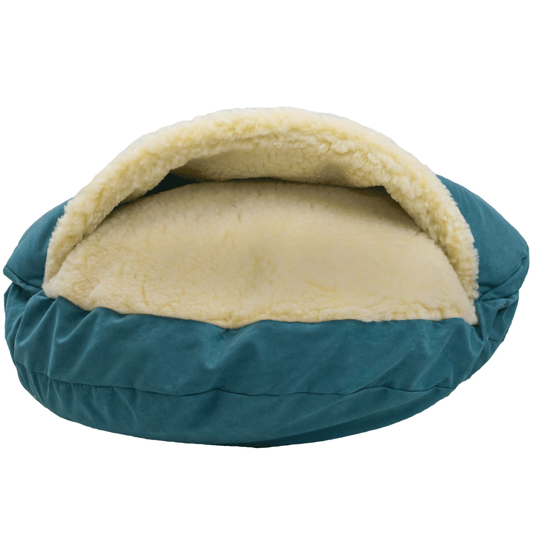 Orthopedic Luxury Cozy Cave Hooded Dog Bed Color: Marine, Size: Small (25