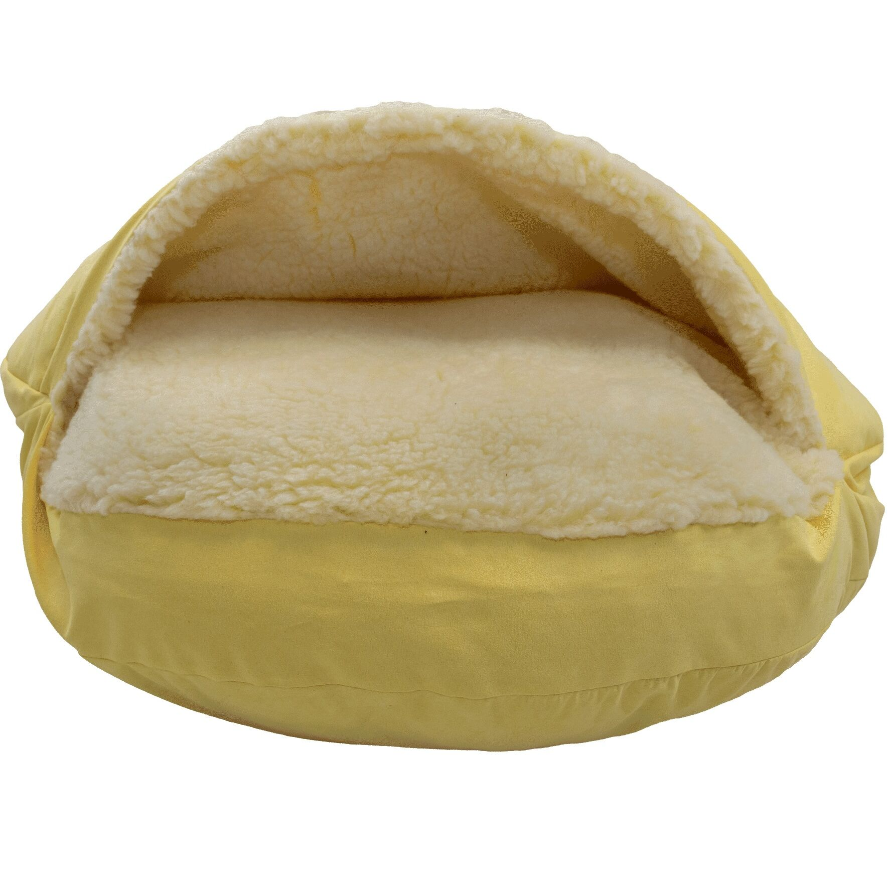 Luxury Cozy Cave Hooded/Dome Dog Bed Color: Lemon, Size: Large (35