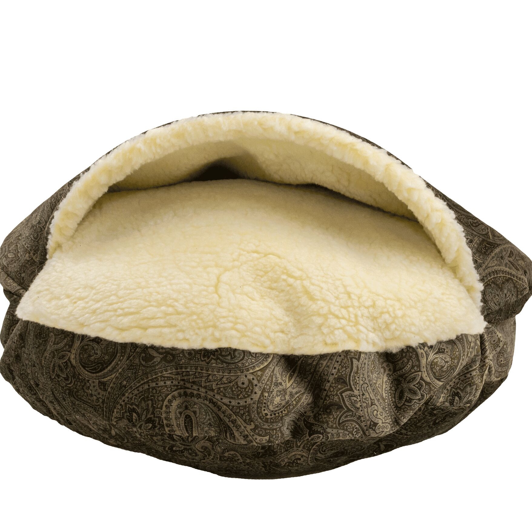 Snow Dog Orthopedic Premium Cozy Cave Hooded Dog Bed with Sherpa Interior Size: Small (25