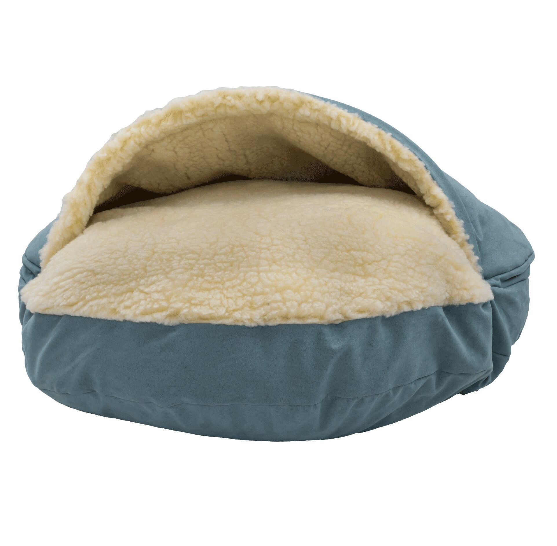 Luxury Cozy Cave Hooded/Dome Dog Bed Color: Aqua, Size: Large (35
