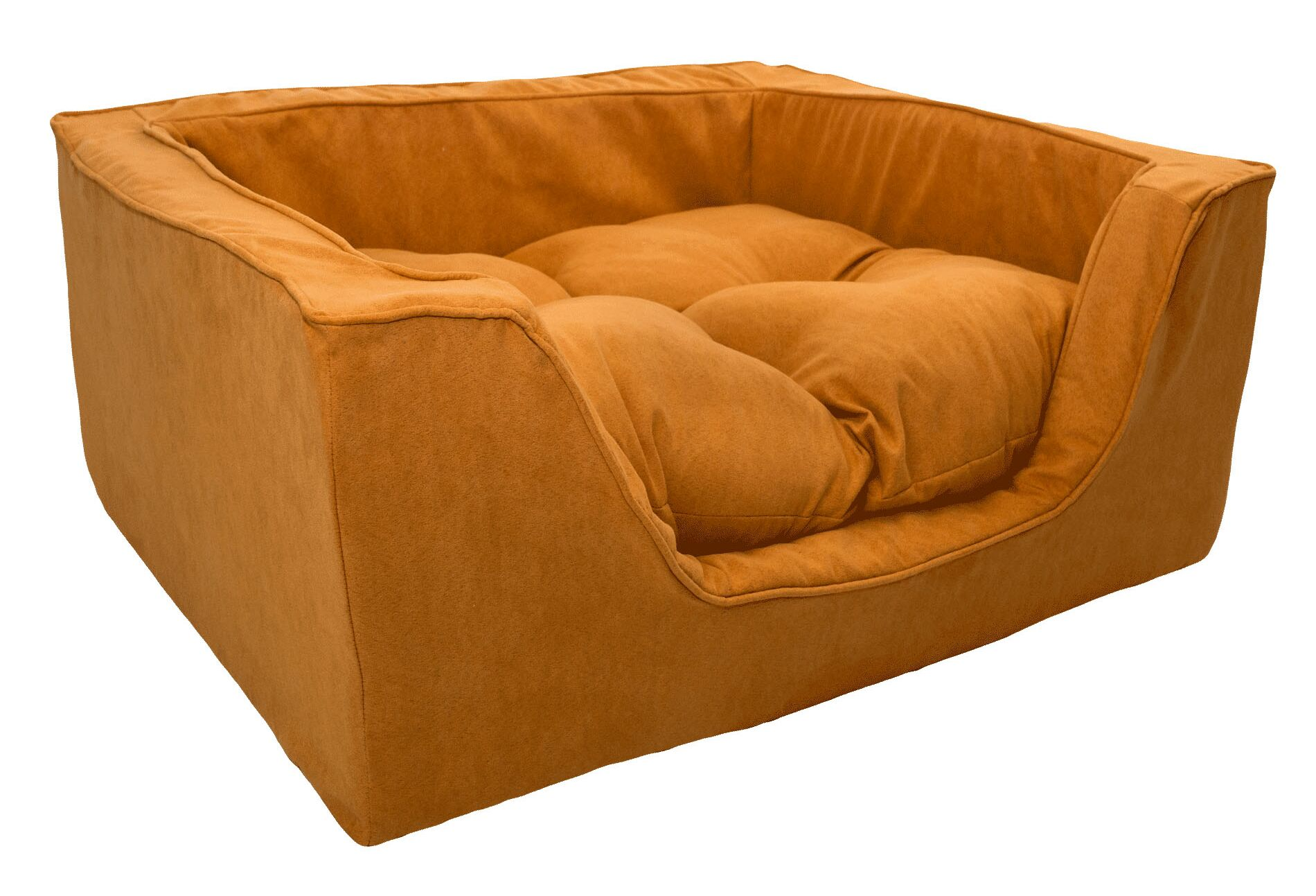 Luxury Solids Micro Suede Bolster Size: Medium (23