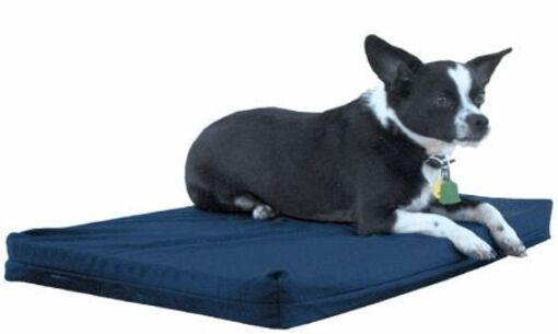 Rectangular Crate Dog Mat Color: Navy, Size: 3X-Large (40