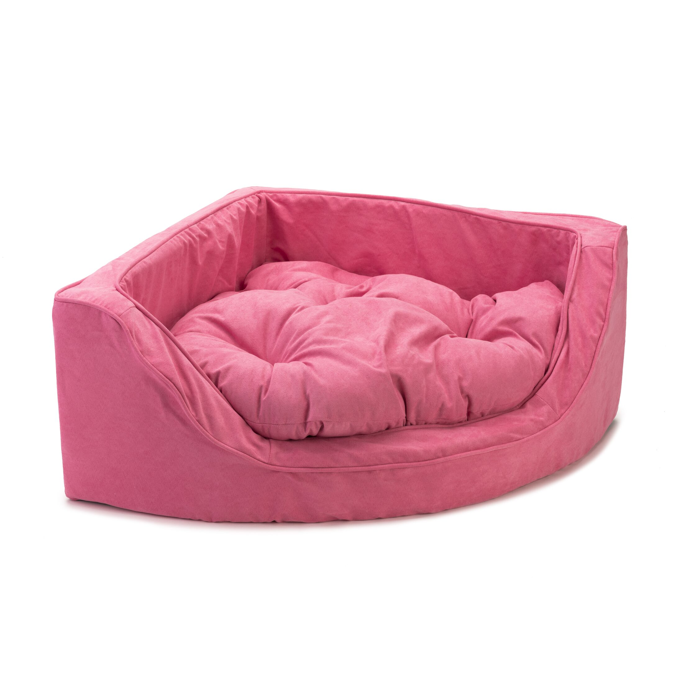 Luxury Corner Bolster Dog Bed Size: Small (22