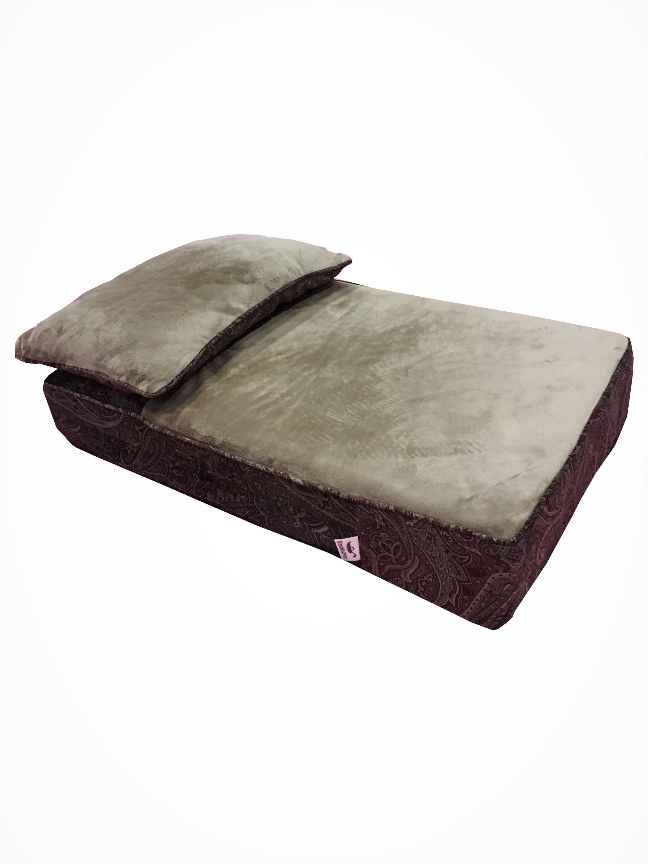 Pillow Rest Lounger Dog Mat with Fur Top Size: 30