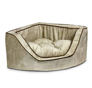 Luxury Corner Bolster Dog Bed Size: Medium (25