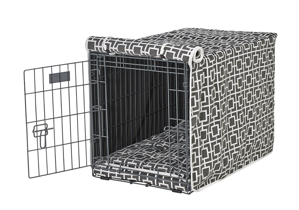 Luxury Crate Cover Color: Gray, Size: XX-Large (33