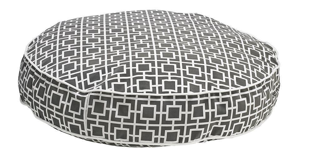 Round Dog Bed Color: Gray, Size: X-Large - 52