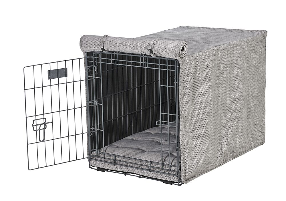 Luxury Crate Cover Color: Silver, Size: Large (25