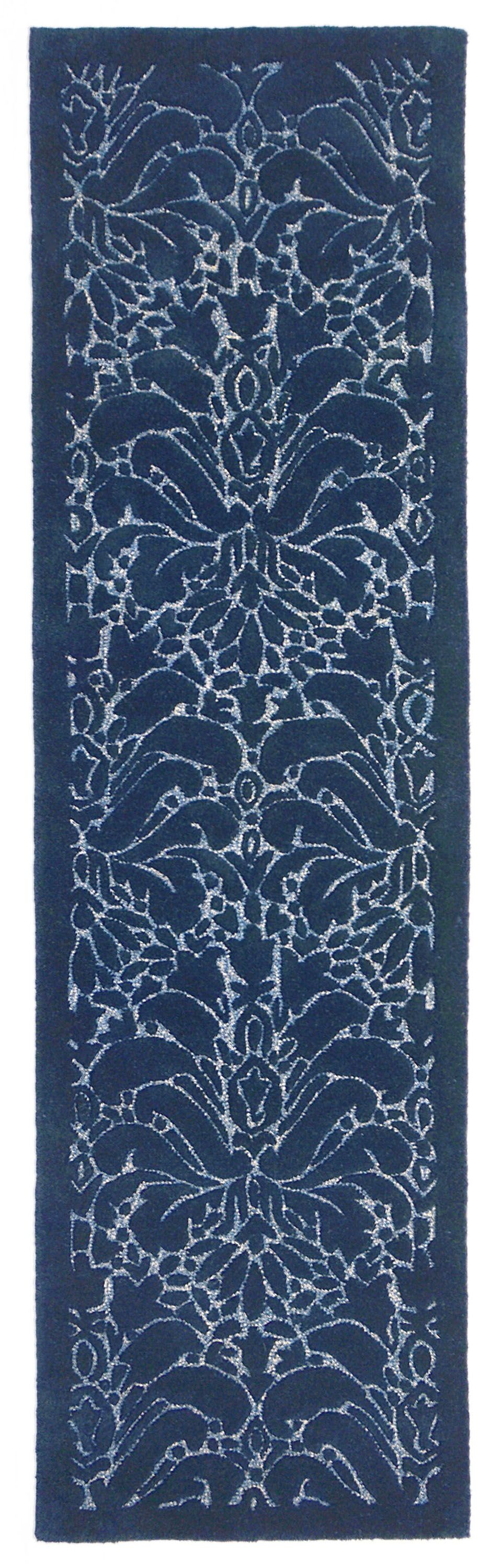 Tenorio Hand-Tufted Blue Area Rug Rug Size: Runner 2'3