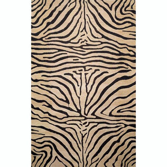 Bowdens Zebra Neutral Rug Rug Size: 3'6
