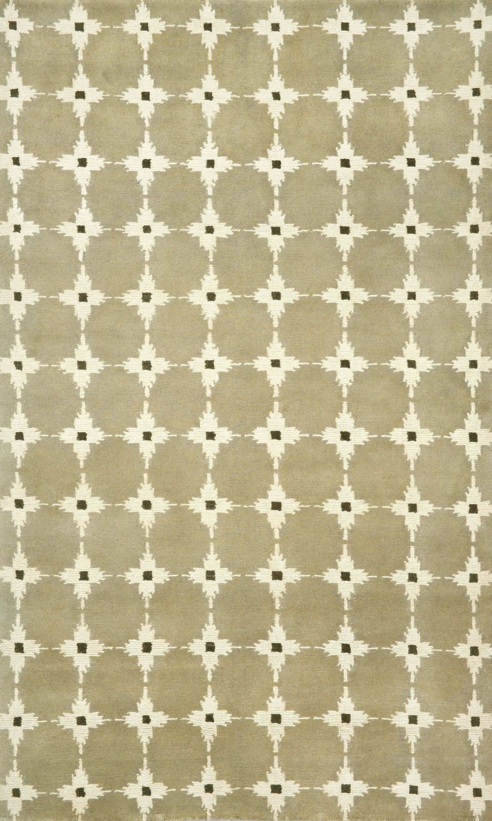 Palermo Brown Squares Neutral Area Rug Rug Size: 5' x 8'