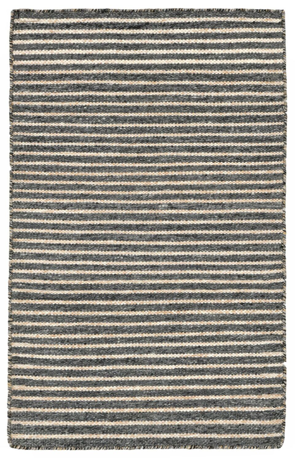 Blueridge Hand-Woven Charcoal Indoor/Outdoor Area Rug Rug Size: 3'6