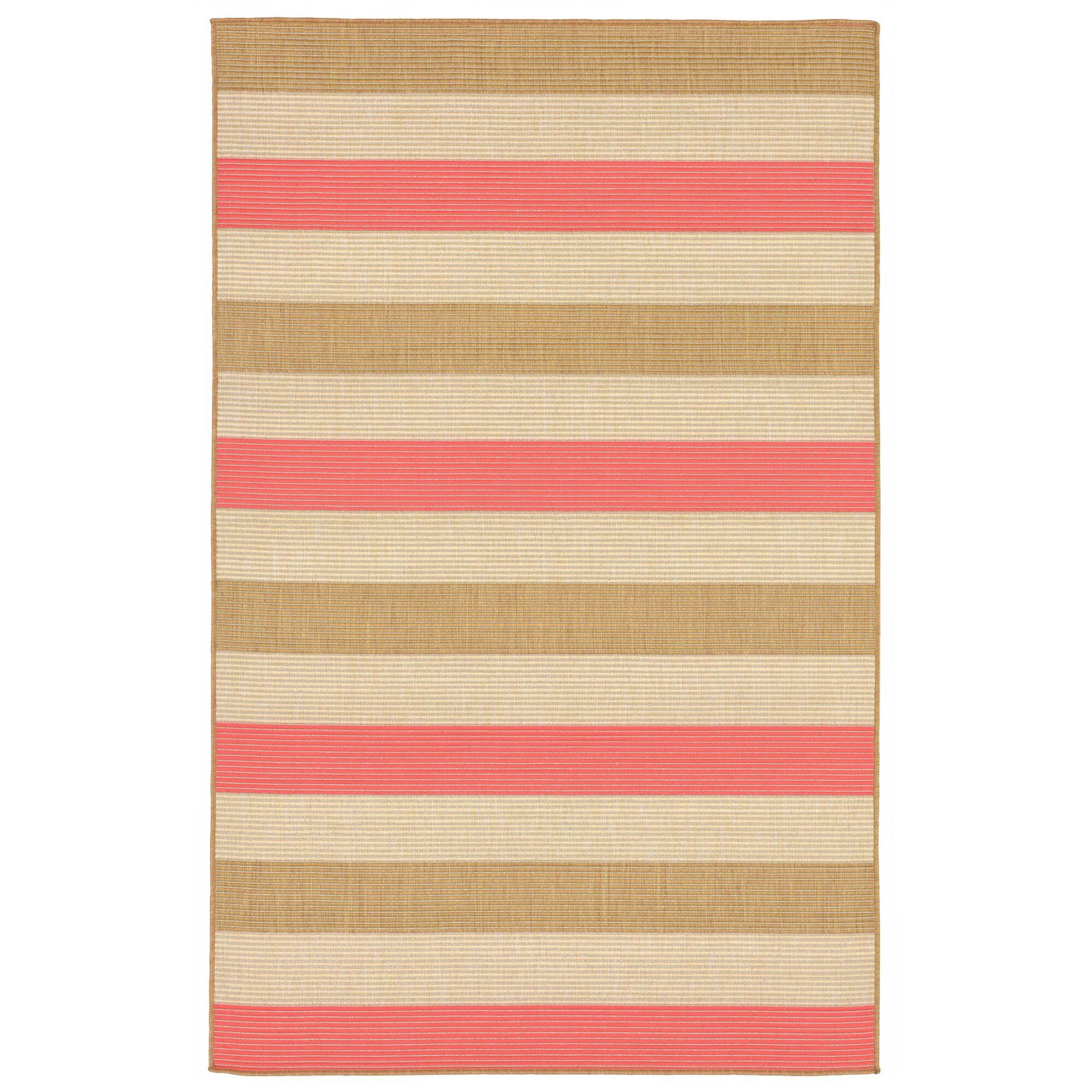 Larana Stripe Beige/Pink Indoor/Outdoor Area Rug Rug Size: Rectangle 4'10