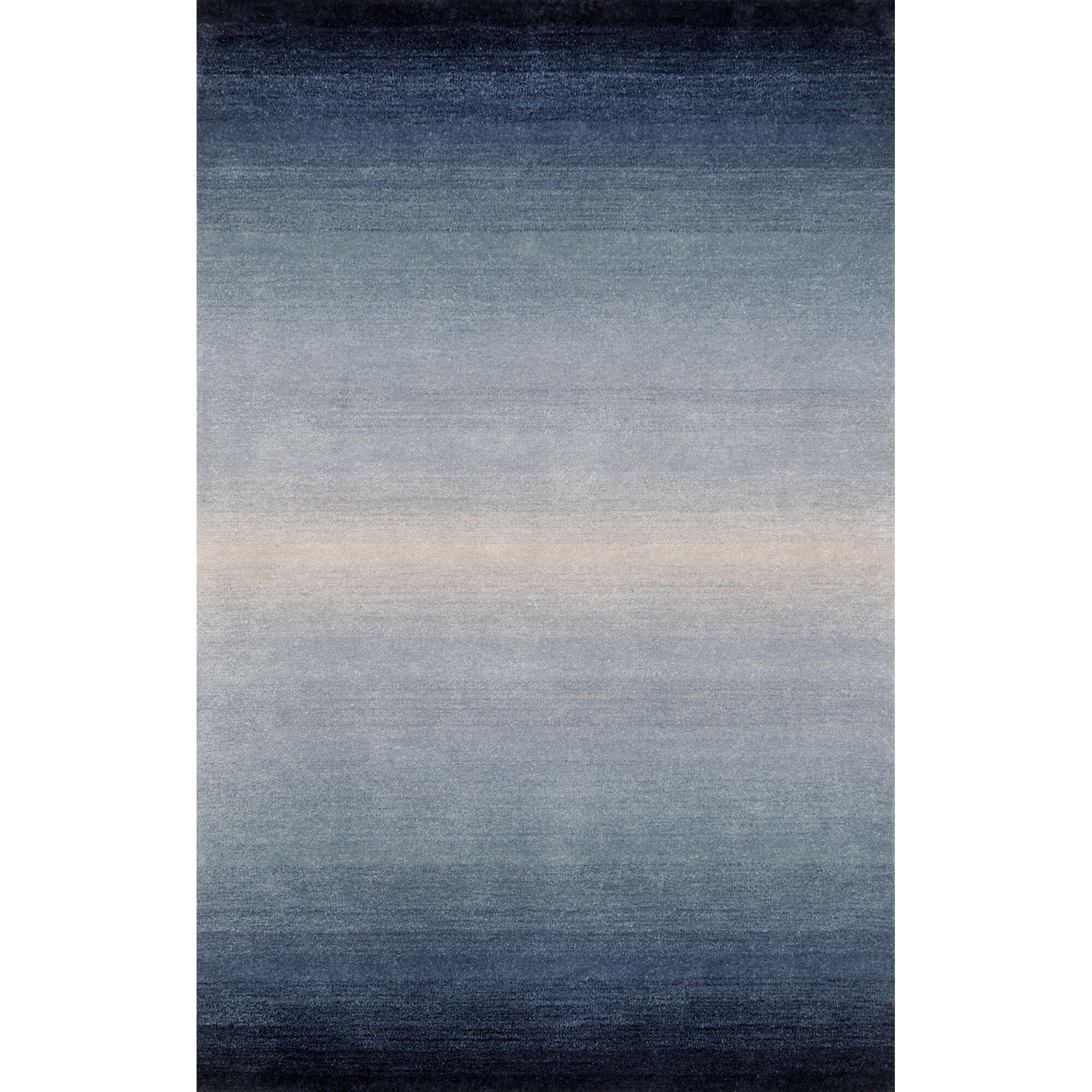 Belding Hand-Tufted Wool Blue Area Rug Rug Size: Round 8