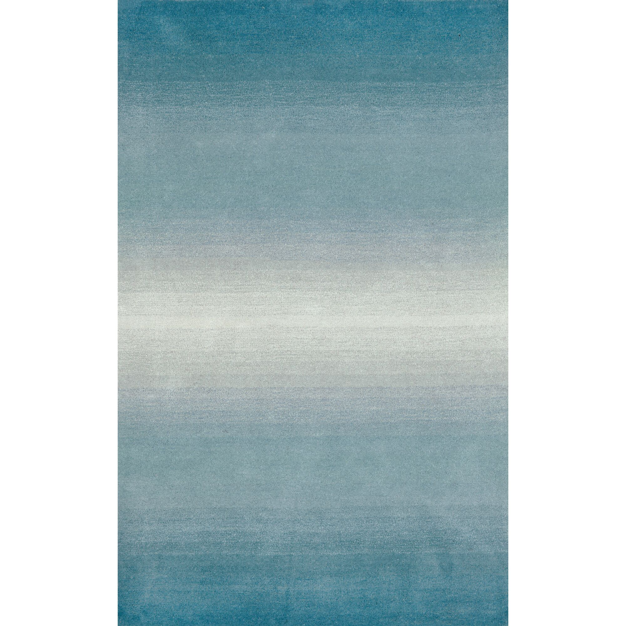 Belding Aqua Horizon Area Rug Rug Size: Rectangle 3'6