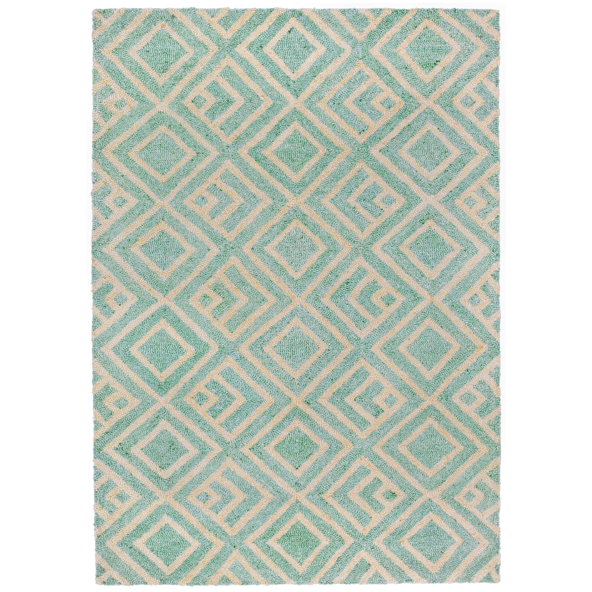Chamness Hand-Tufted Aqua Indoor/Outdoor Area Rug Rug Size: 8'3