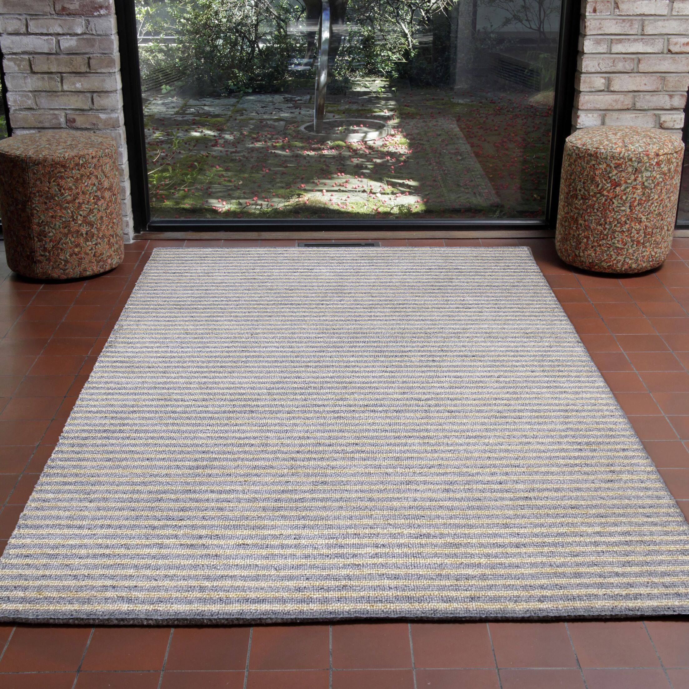 Bogard Hand-Tufted Gray Indoor/Outdoor Area Rug Rug Size: 8'3