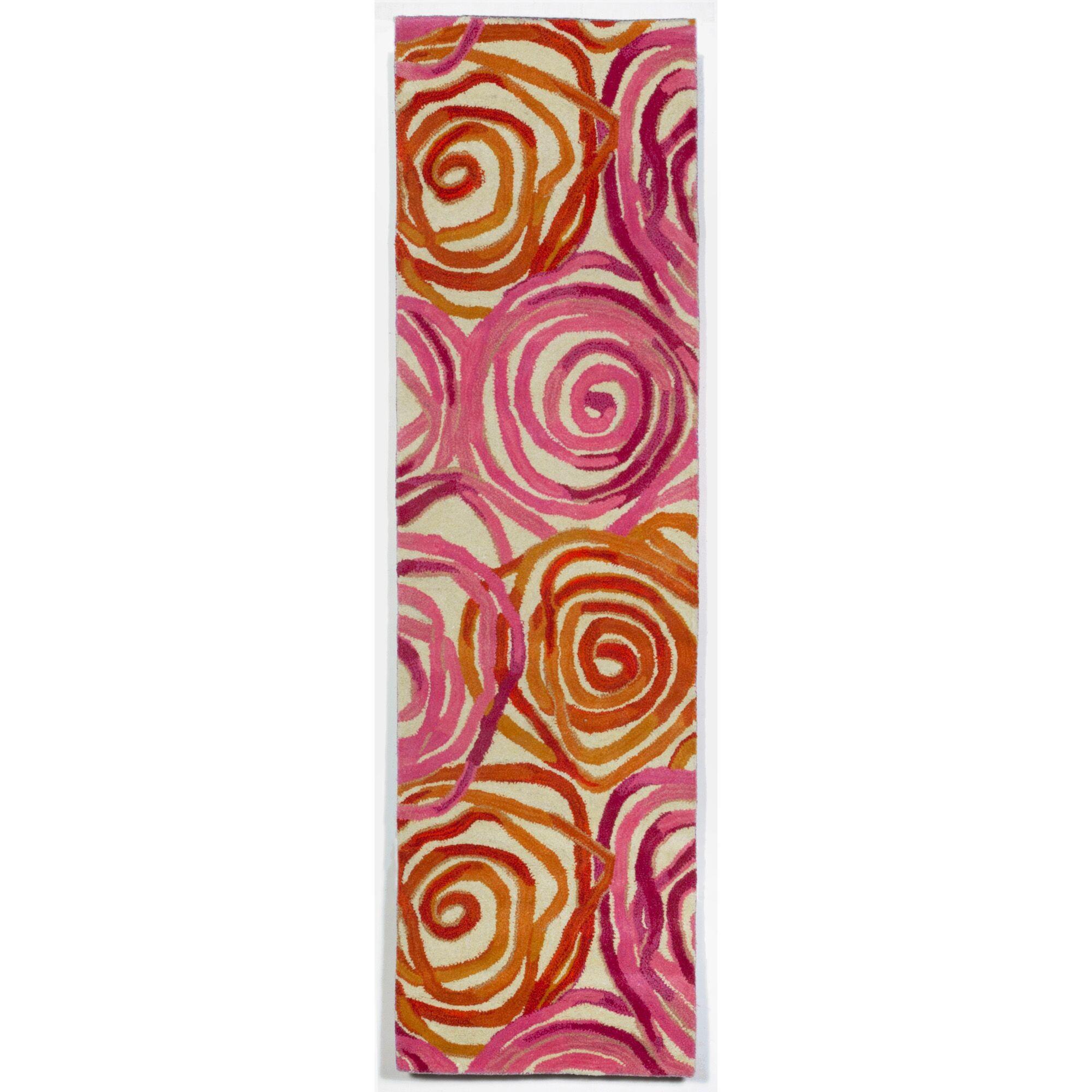 Terrill Rose Sunset Orange/Pink Area Rug Rug Size: Runner 2'3
