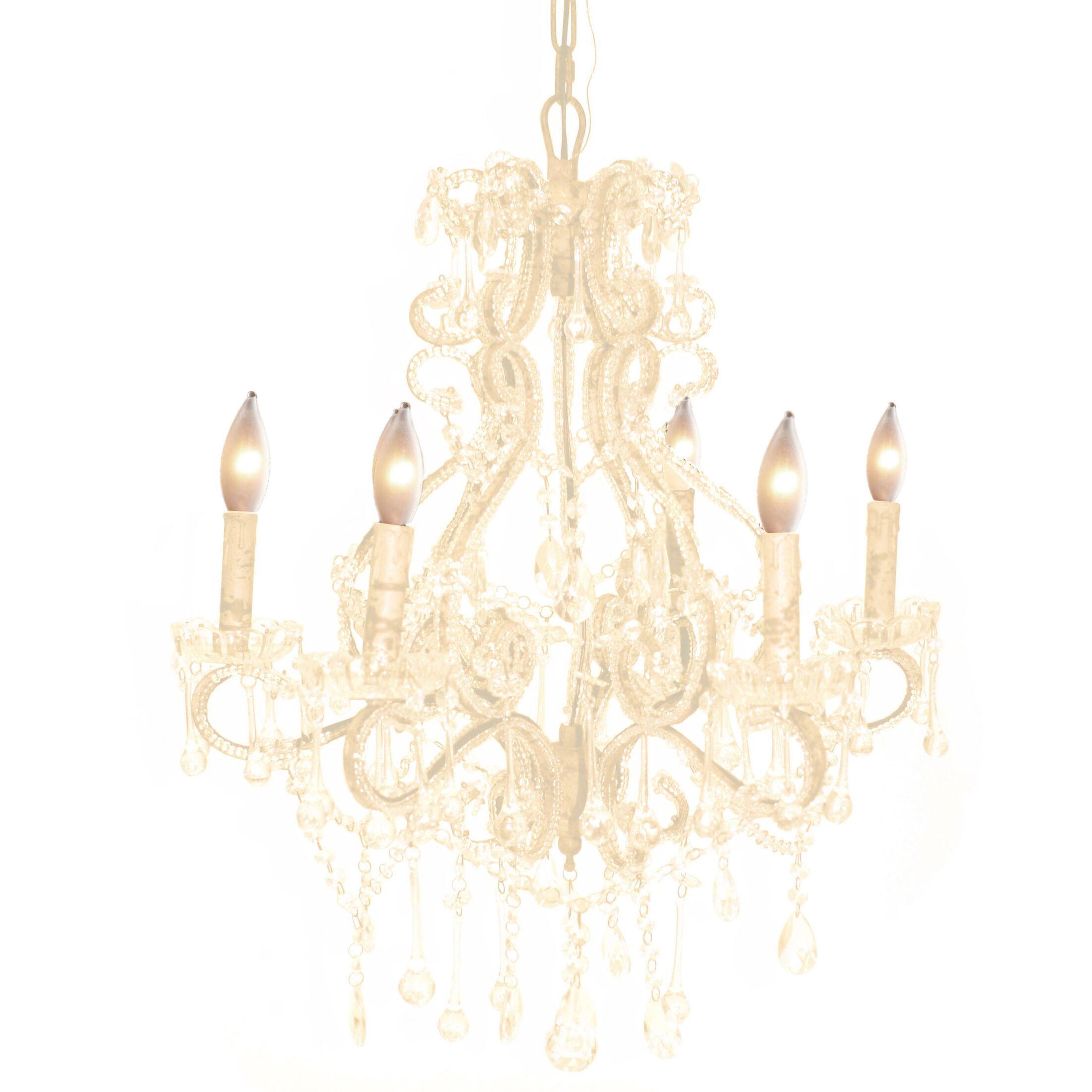 Majors 6-Light Crystal Chandelier Color: White