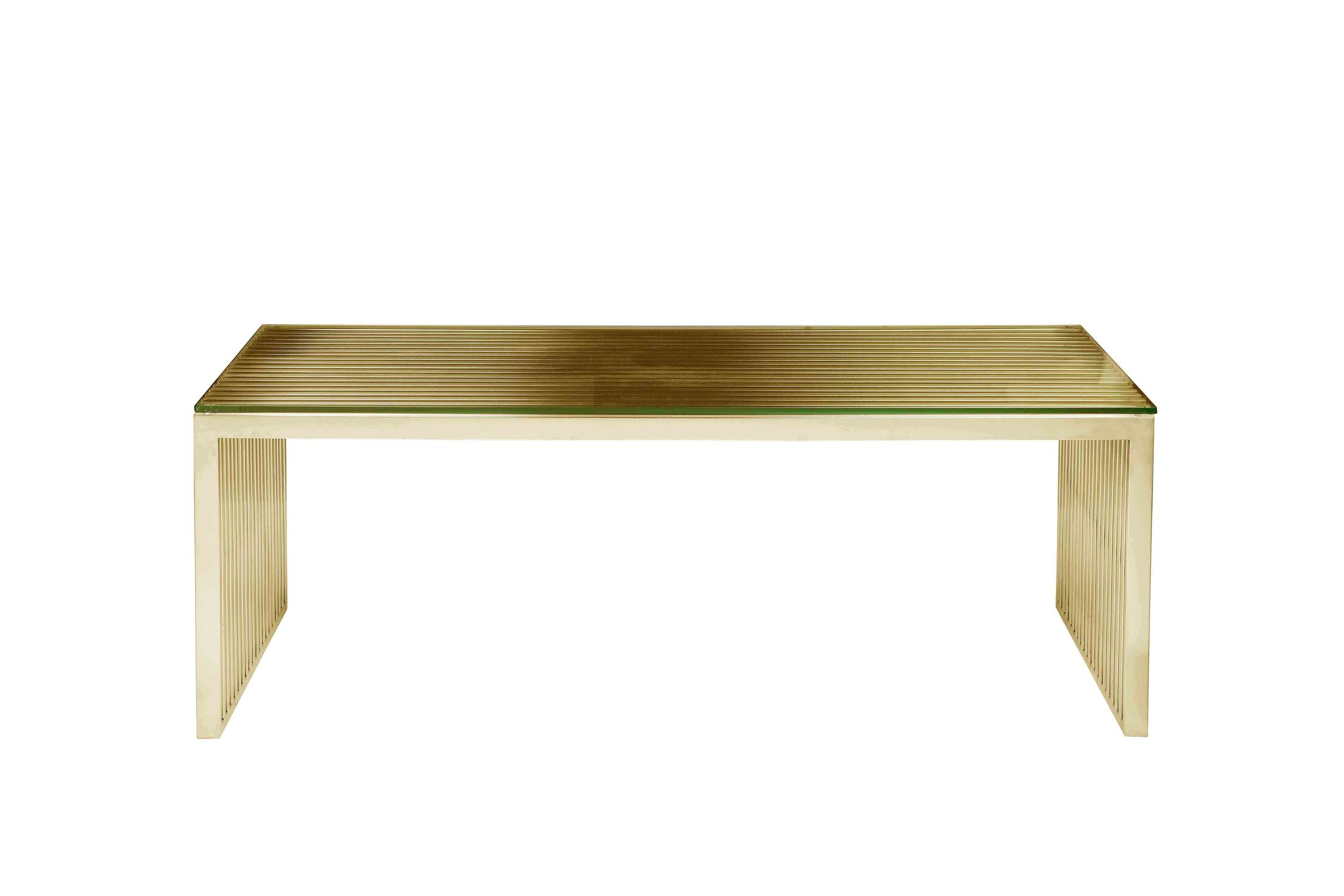 Hoang Coffee Table Color: Gold