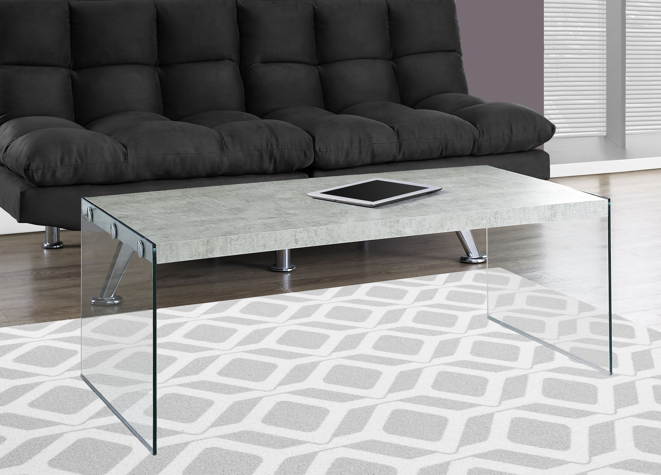 Coffee Table Top Color: Gray Cement
