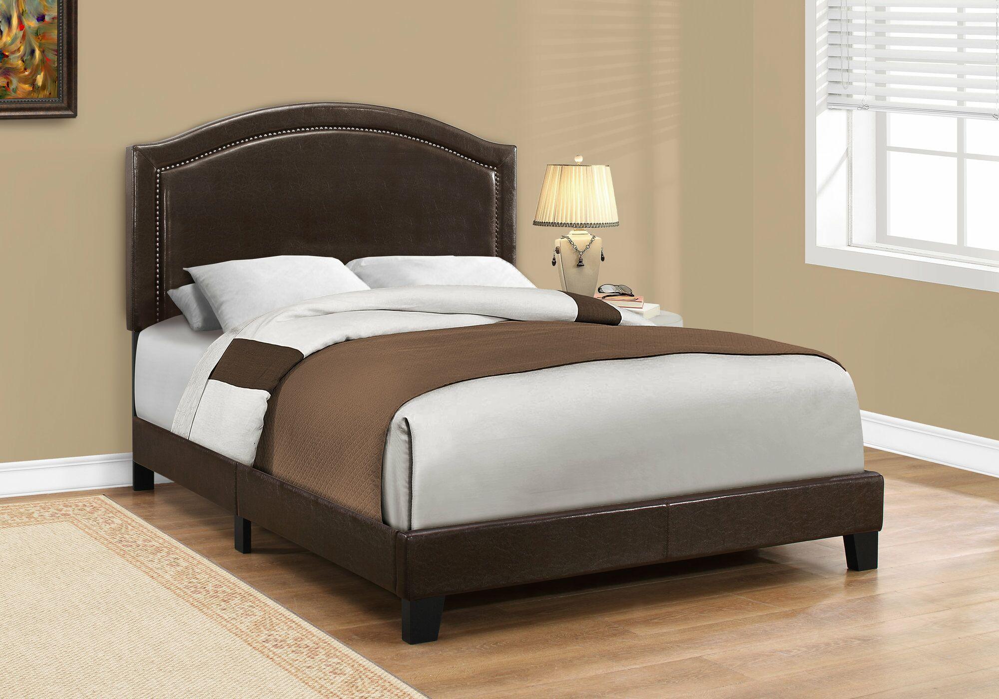 Larose Upholstered Panel Bed Size: Full, Color: Brown