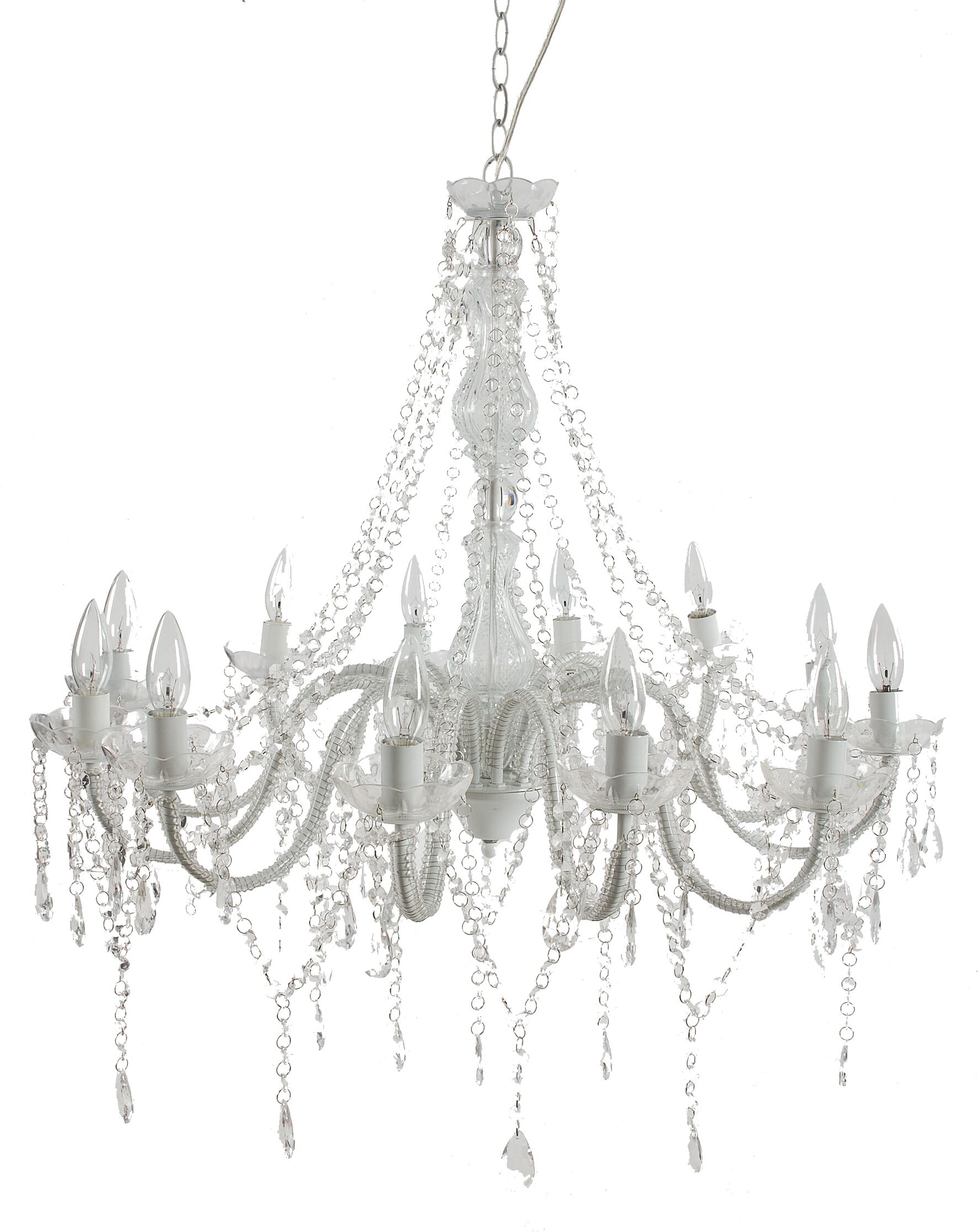 12-Light Candle Style Chandelier
