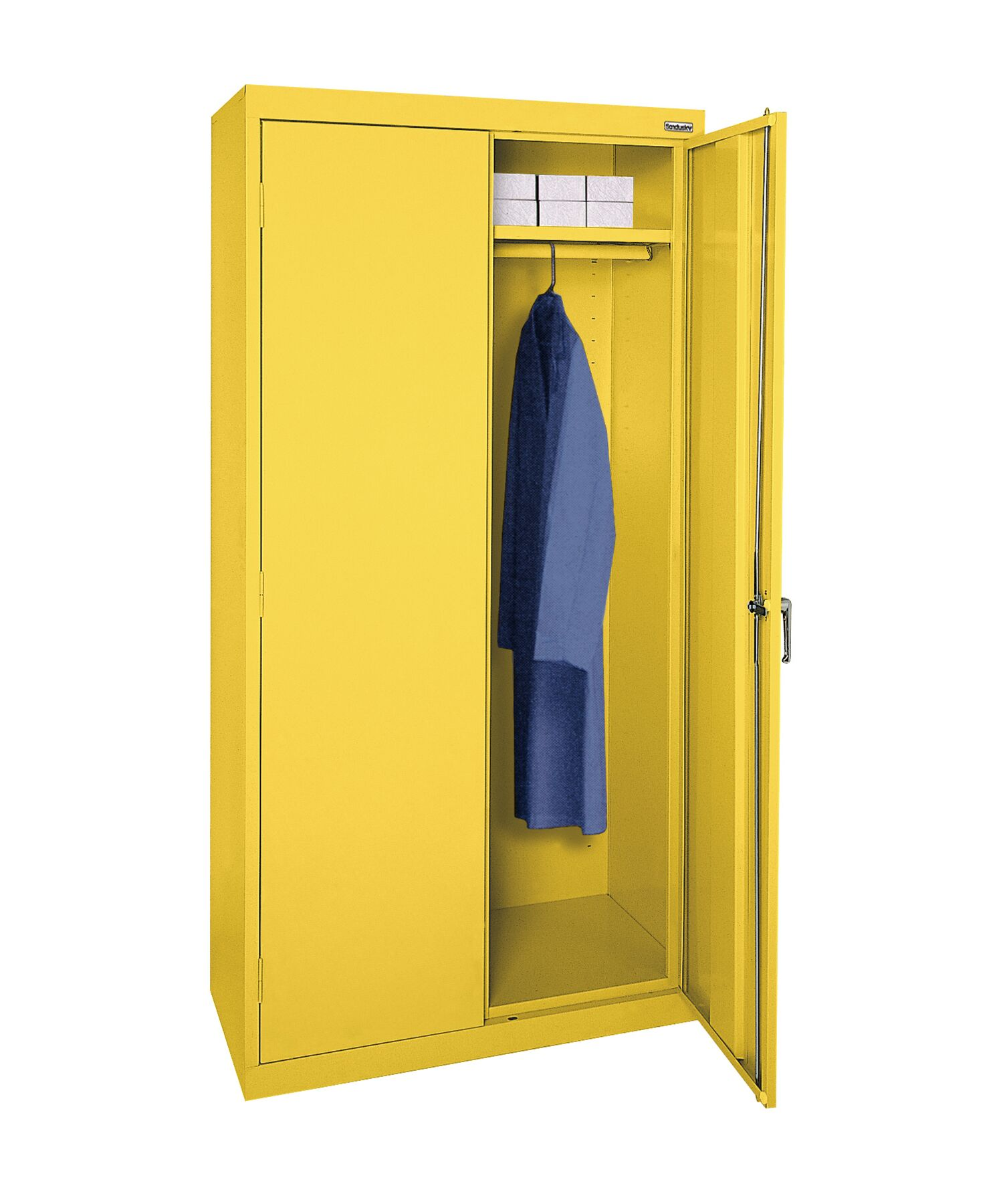 Wardrobe Armoire Finish: Yellow, Size: 78