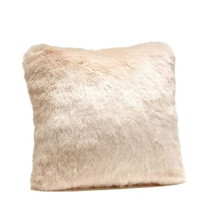 Limited Edition Mink Faux Fur Throw Pillow Size: 24