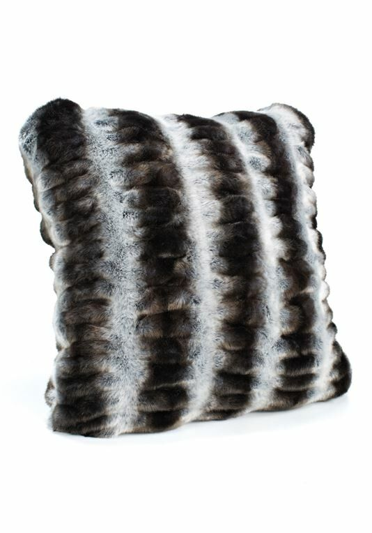 Couture Faux Fur Throw Pillow Size: 24
