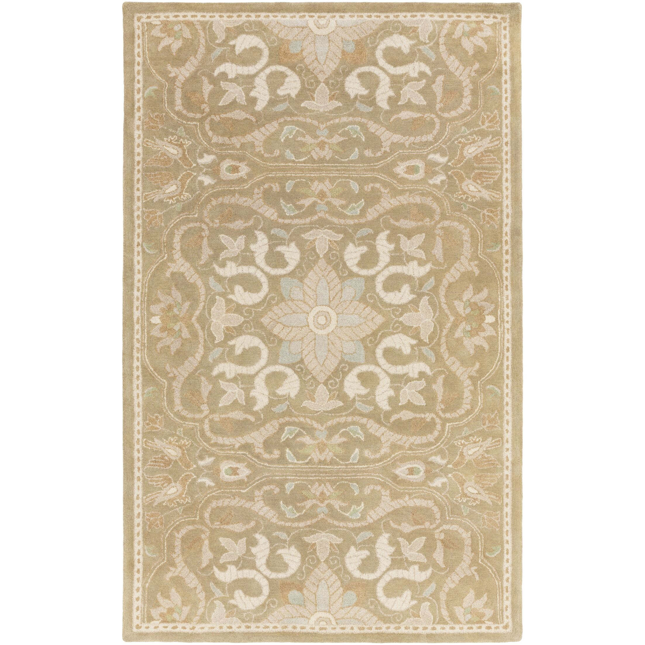 Smithsonian Hand-Tufted Brown/Neutral Area Rug Rug Size: Rectangle 2' x 3'
