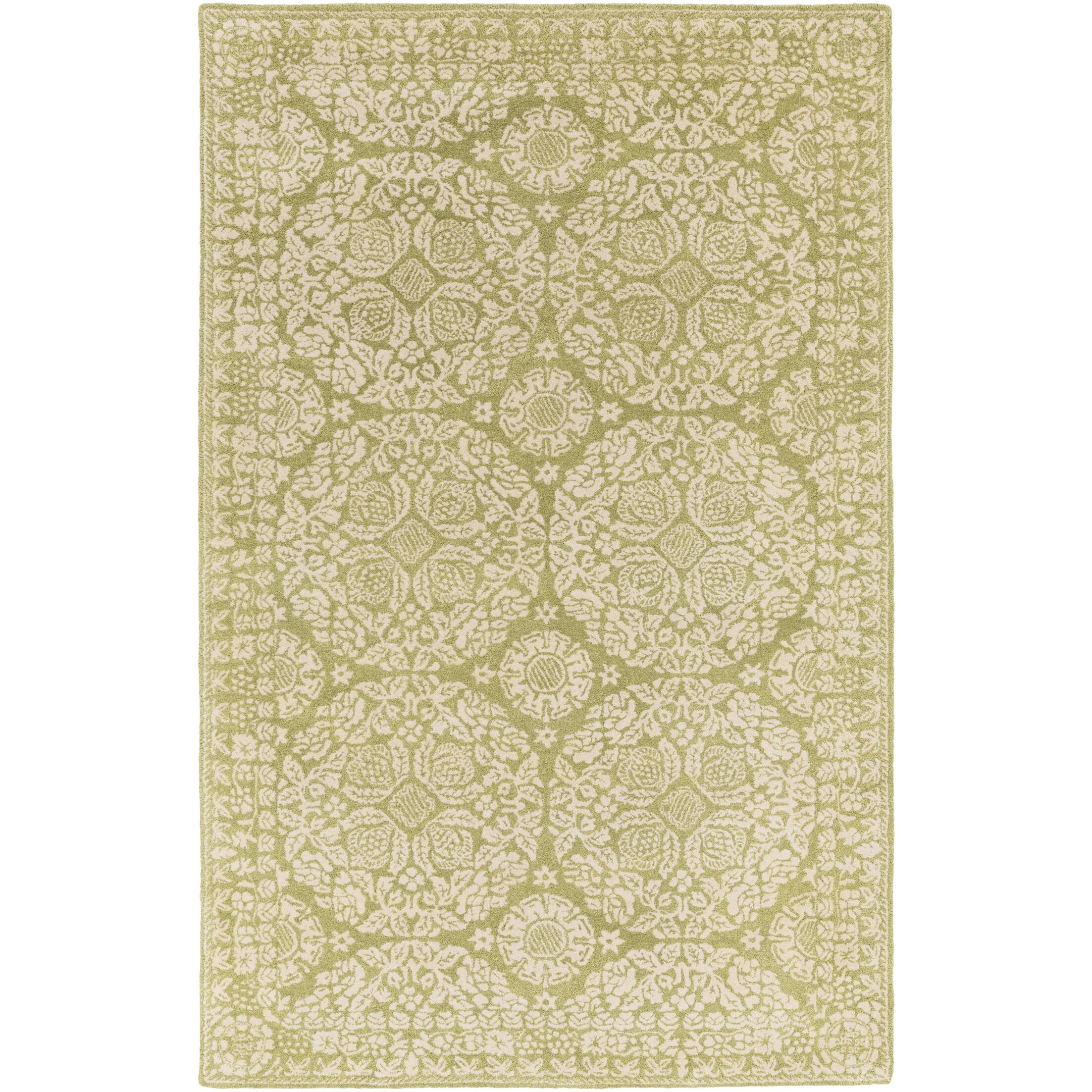 Smithsonian Hand-Tufted Green/Neutral Area Rug Rug Size: Rectangle 8' x 11'