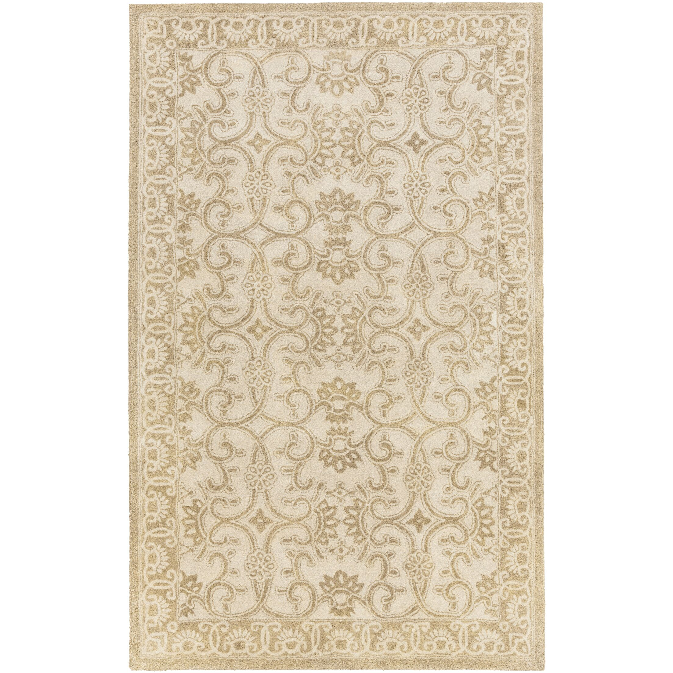 Smithsonian Hand-Tufted Brown/Neutral Area Rug Rug Size: Rectangle 5' x 8'