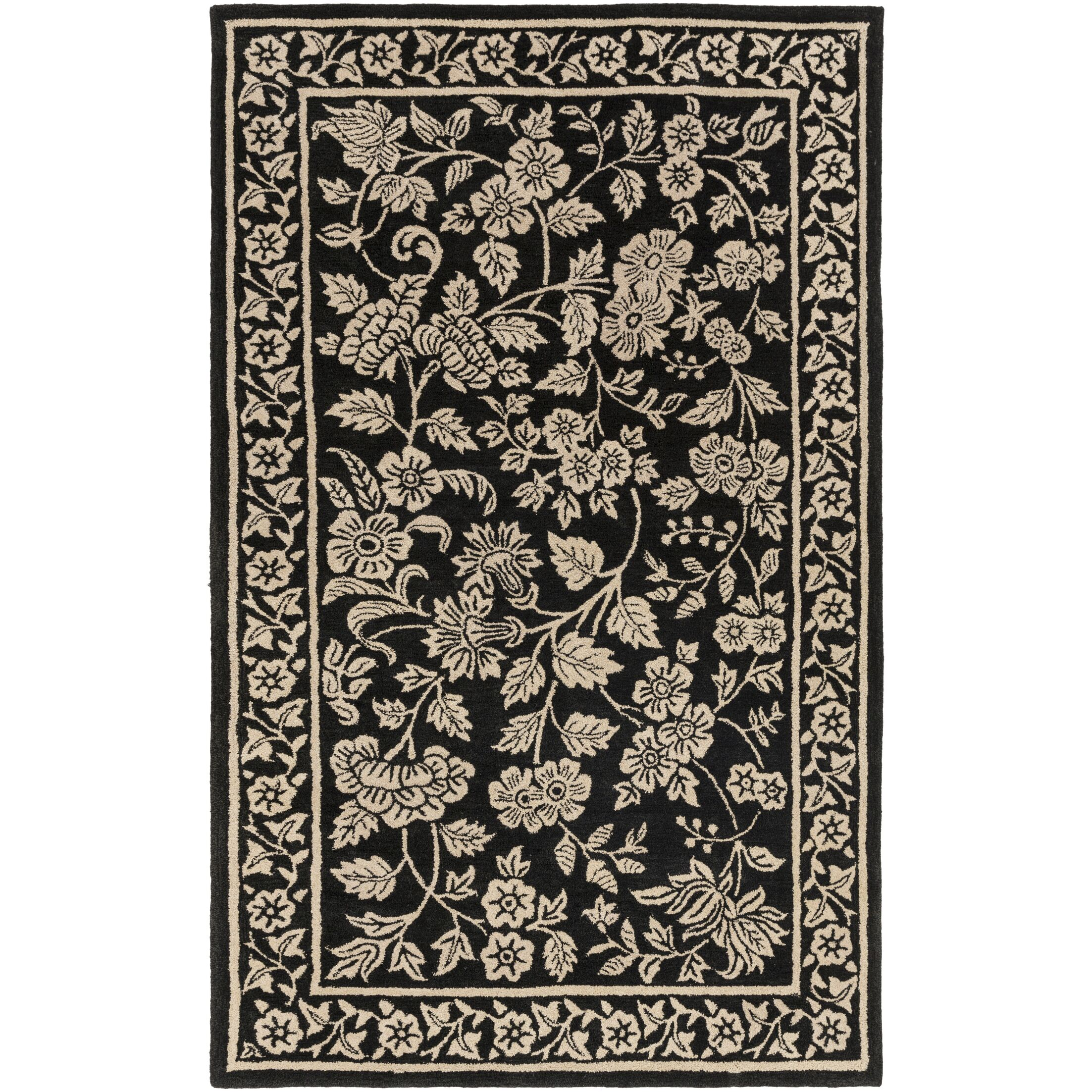Smithsonian Hand-Tufted Black/Neutral Area Rug Rug Size: Rectangle 9' x 13'