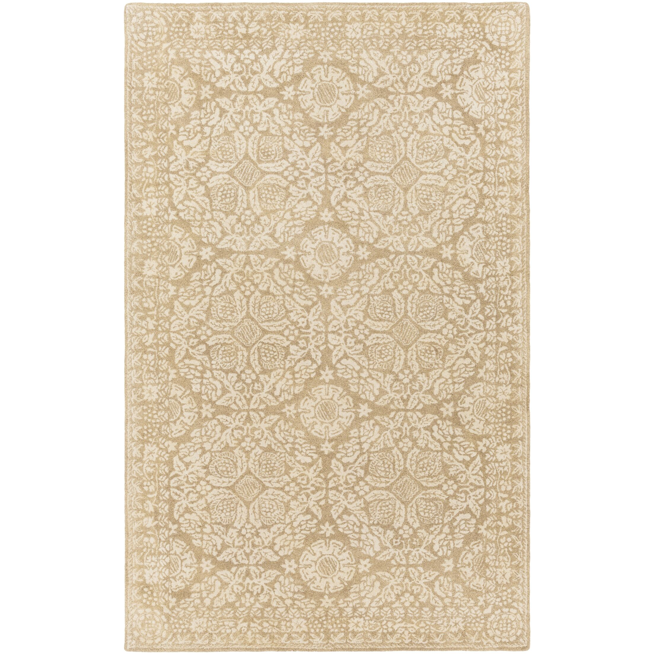 Smithsonian Hand-Tufted Green/Neutral Area Rug Rug Size: Rectangle 3'3