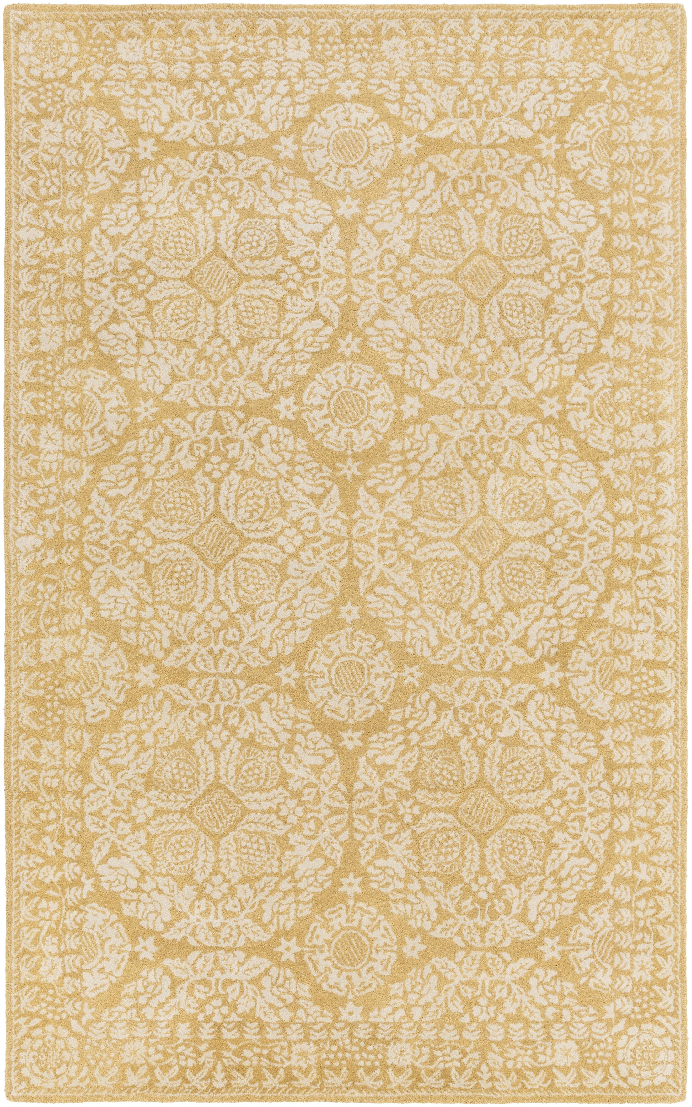 Smithsonian Hand-Tufted Yellow/Neutral Area Rug Rug Size: Runner 2'6