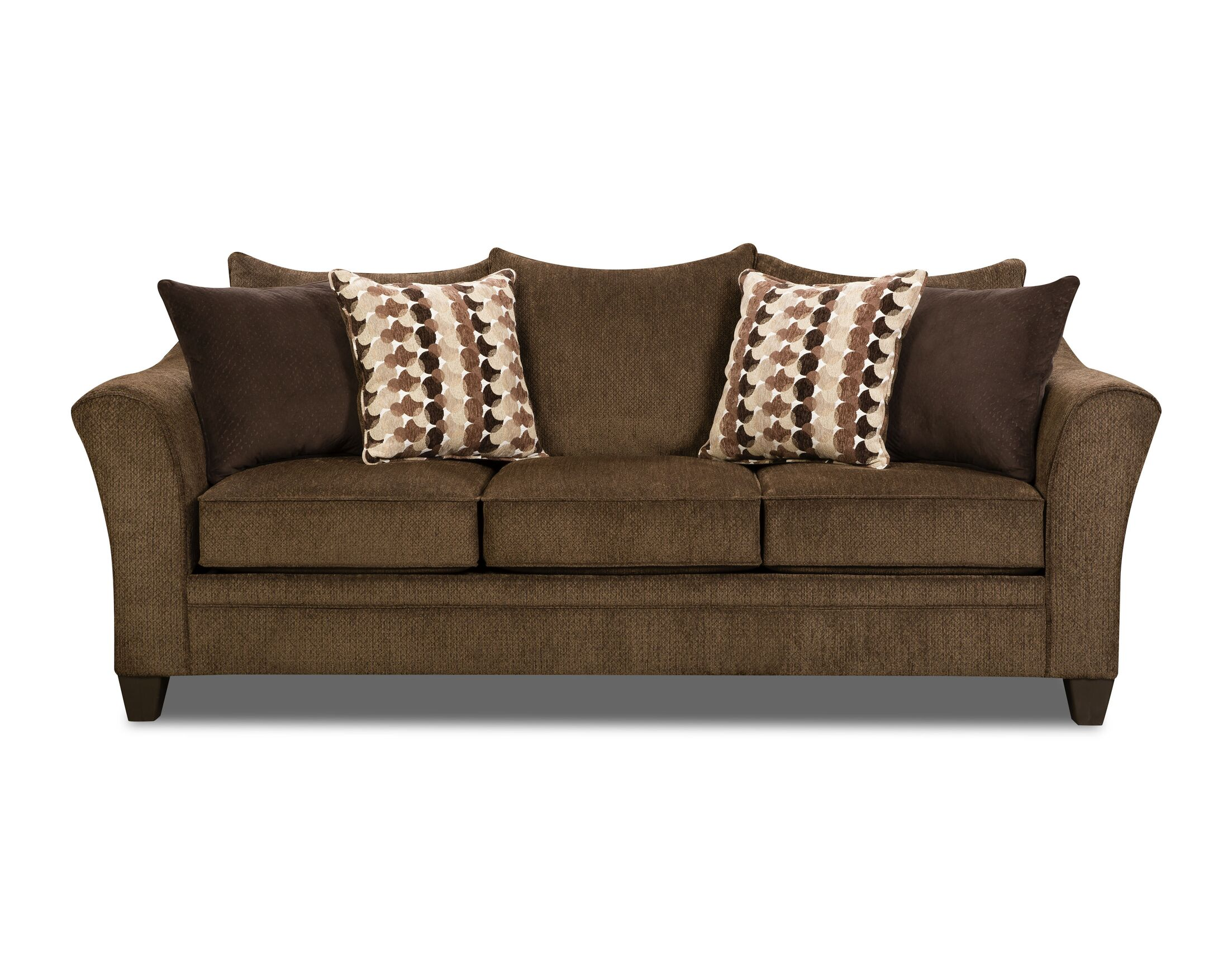 Degory Sleeper Sofa by Simmons Upholstery Upholstery: Brown