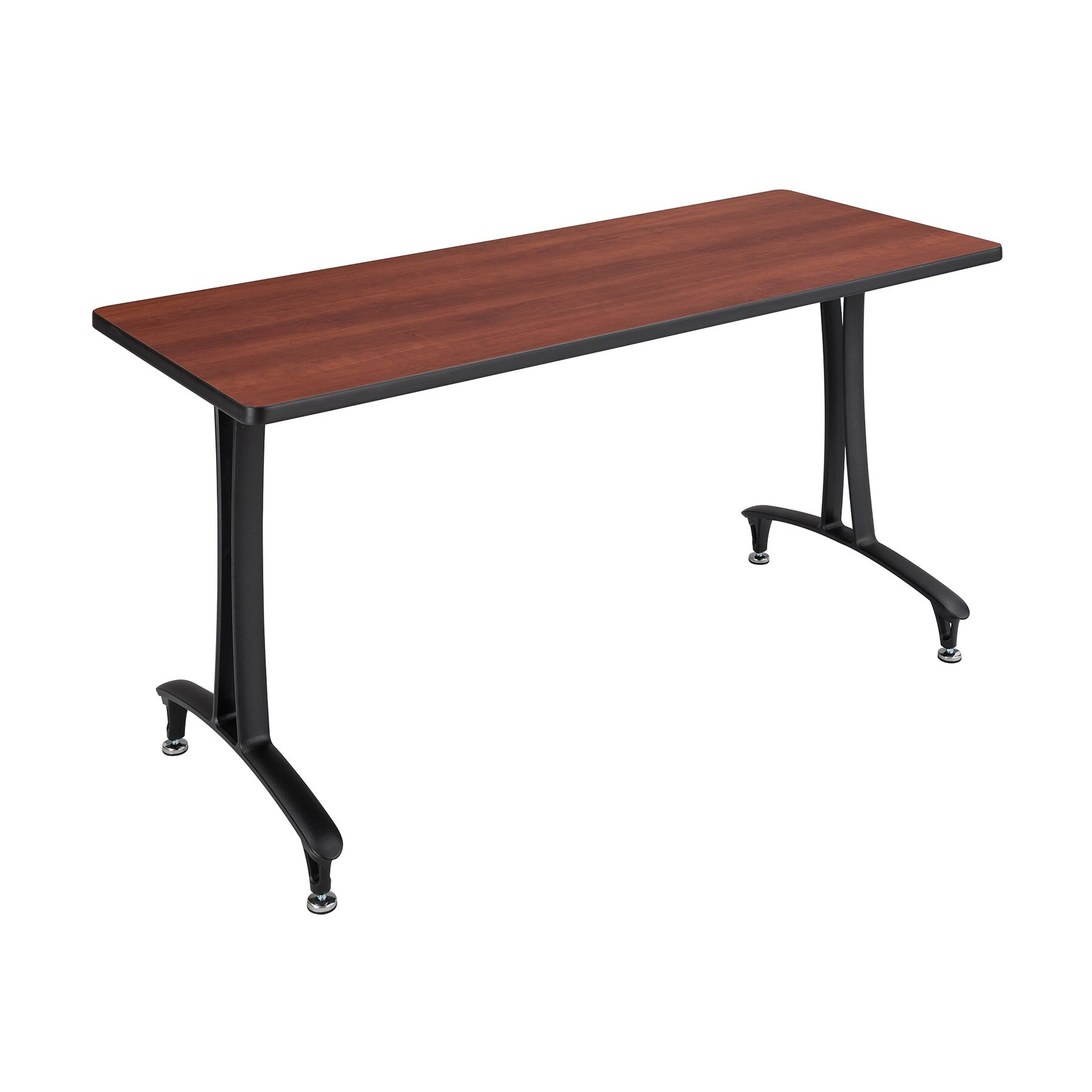 Rumba� Rectangular Conference Table Base Finish: Black, Top Finish: Cherry, Size: 5' L