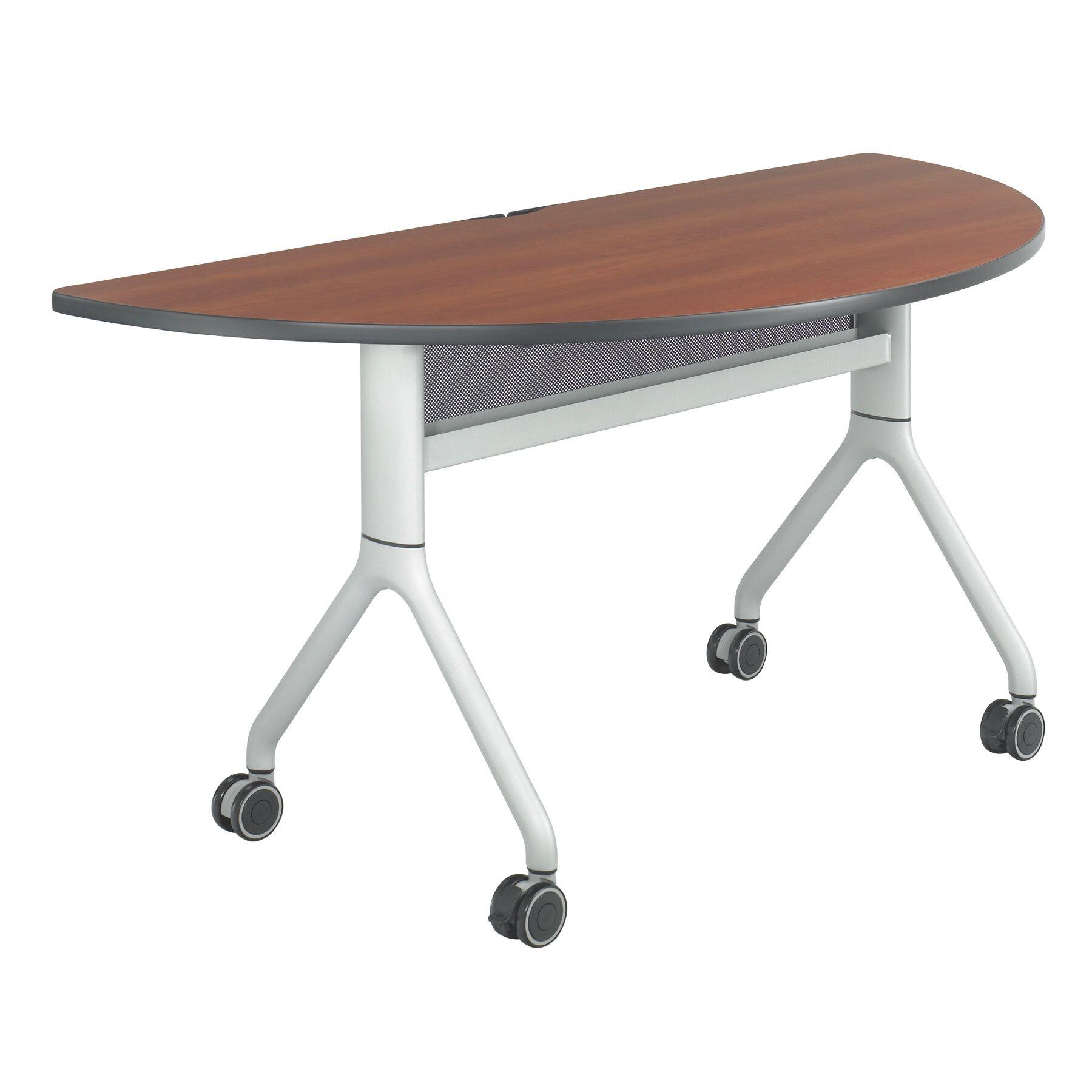 Rumba Training Table with Wheels Tabletop Finish: Cherry, Base Finish: Metallic Gray, Size: 60 x 30