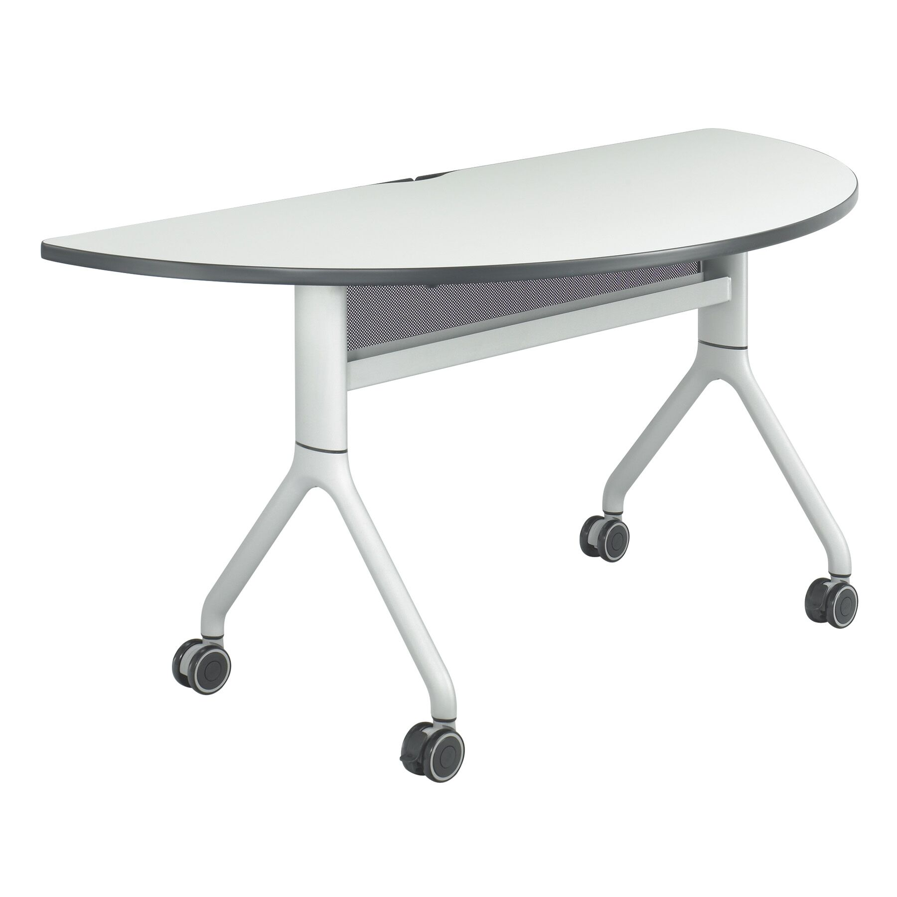 Rumba Training Table with Wheels Base Finish: Black, Tabletop Finish: Gray, Size: 48 x 24