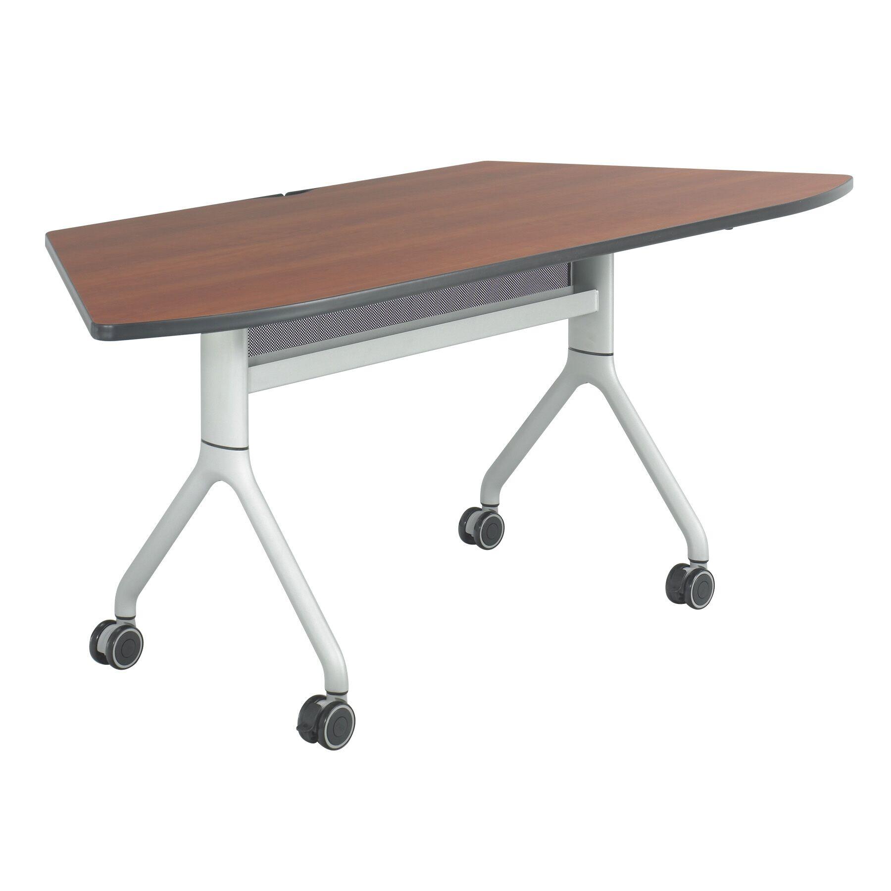 Rumba Training Table with Wheels Base Finish: Metallic Gray, Tabletop Finish: Gray, Size: 60 x 24
