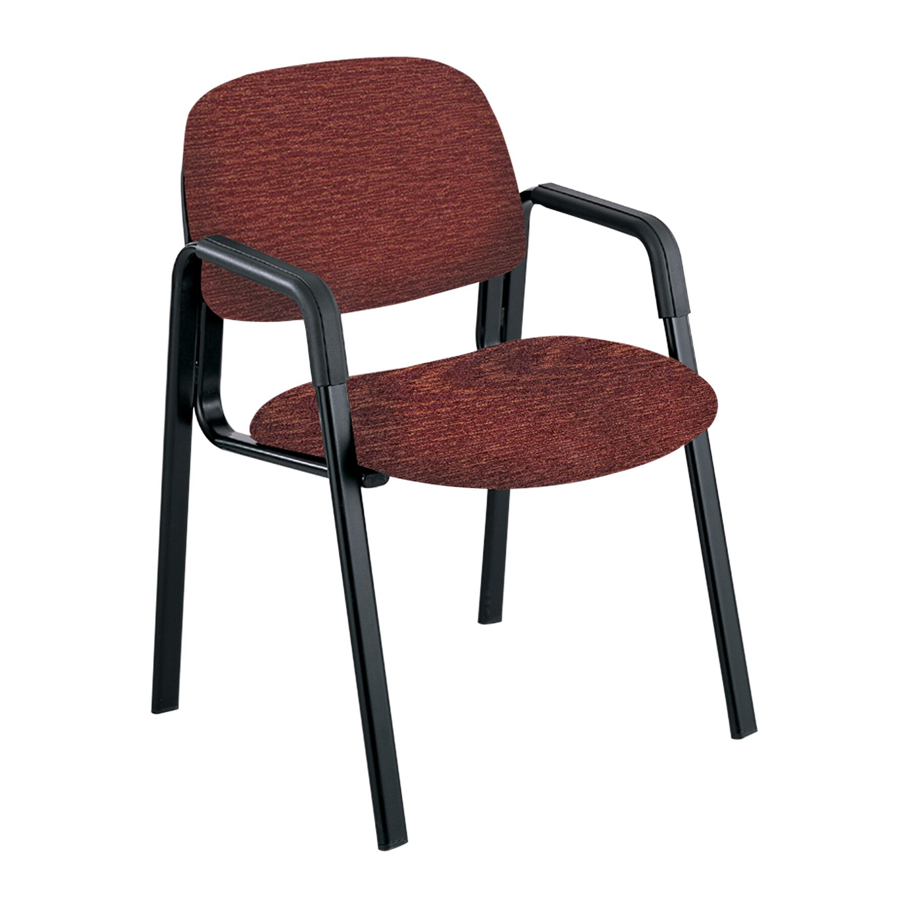 Cava Urth Guest Chair Color: Burgundy, Frame Type: Straight Leg