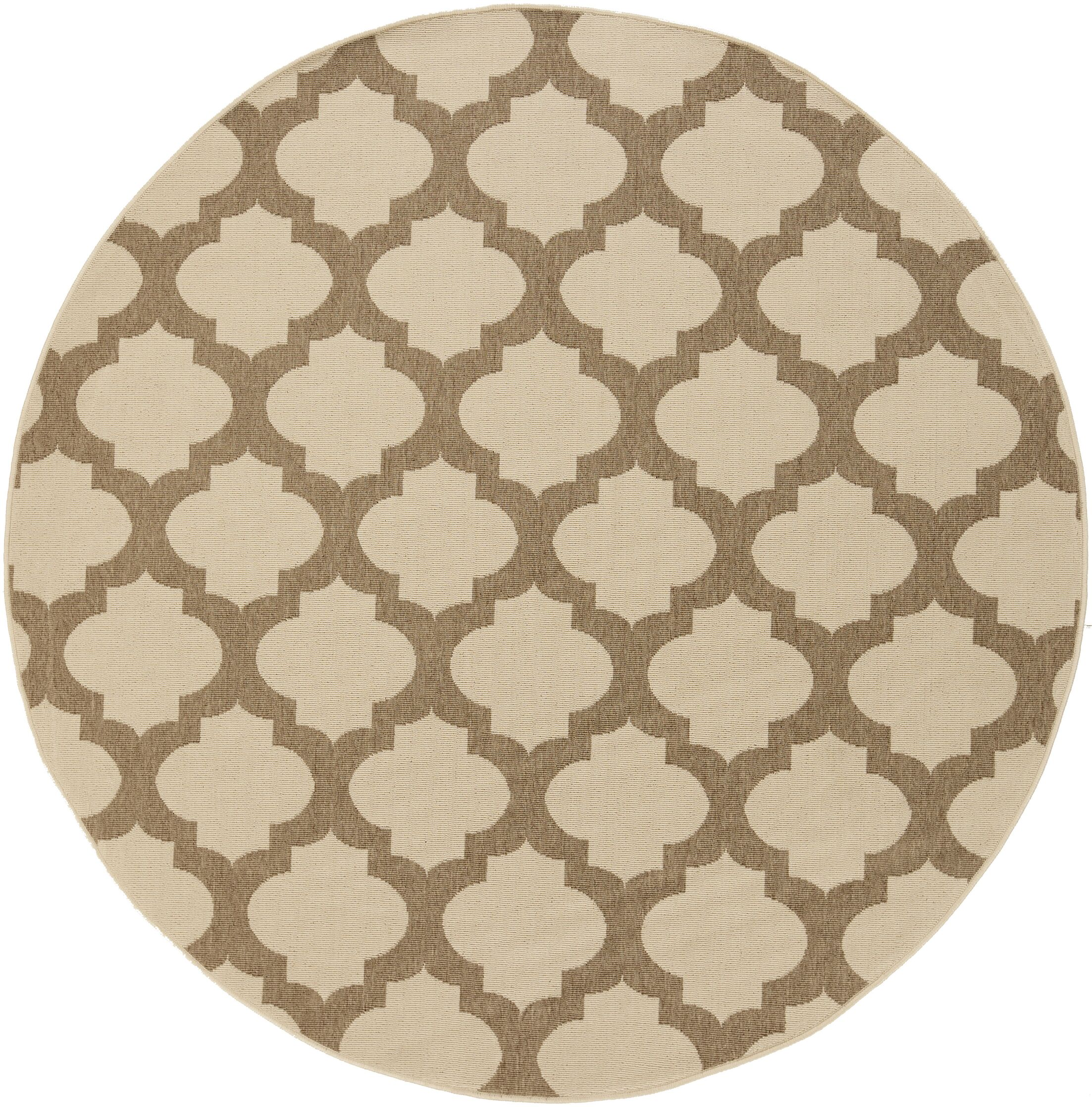 Odell Taupe Indoor/Outdoor Area Rug Rug Size: Round 8'9