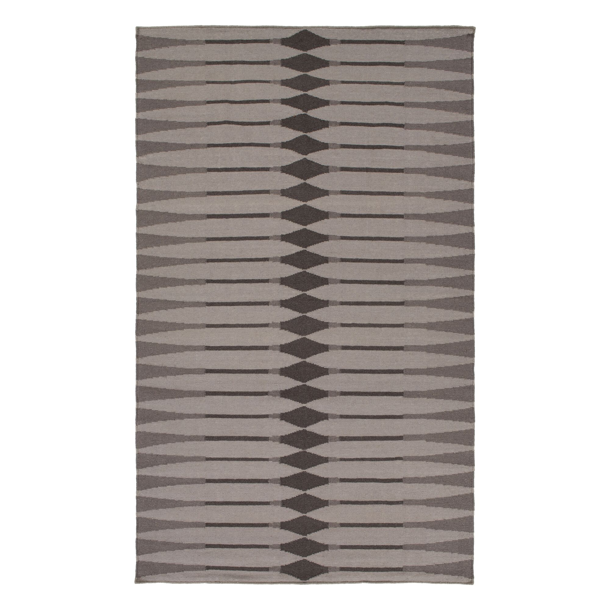 Hand Woven Cotton Brown/Gray Area Rug Rug Size: Rectangle 4' x 6'