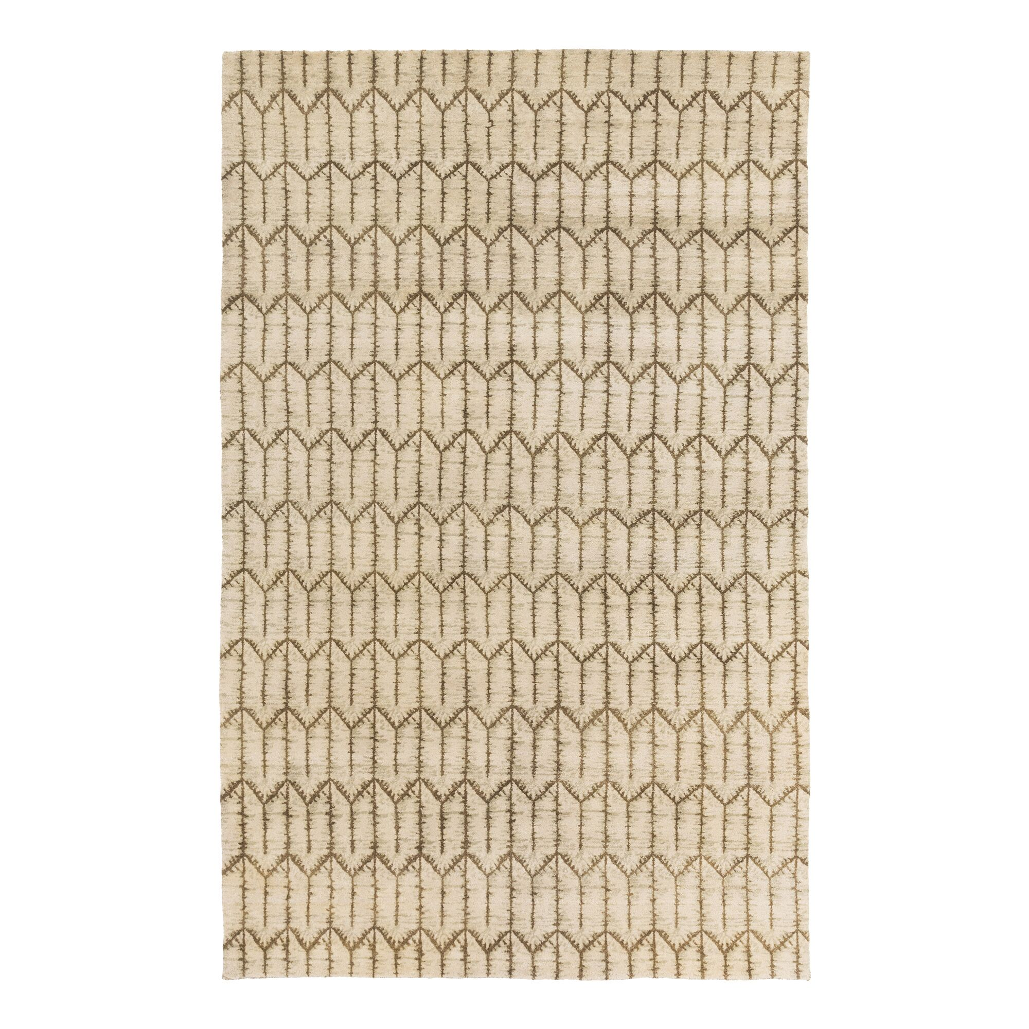Tile Hand Knotted Brindle Area Rug Rug Size: Rectangle 9' x 13'